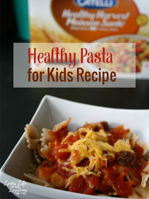 Bowl of healthy pasta for kids