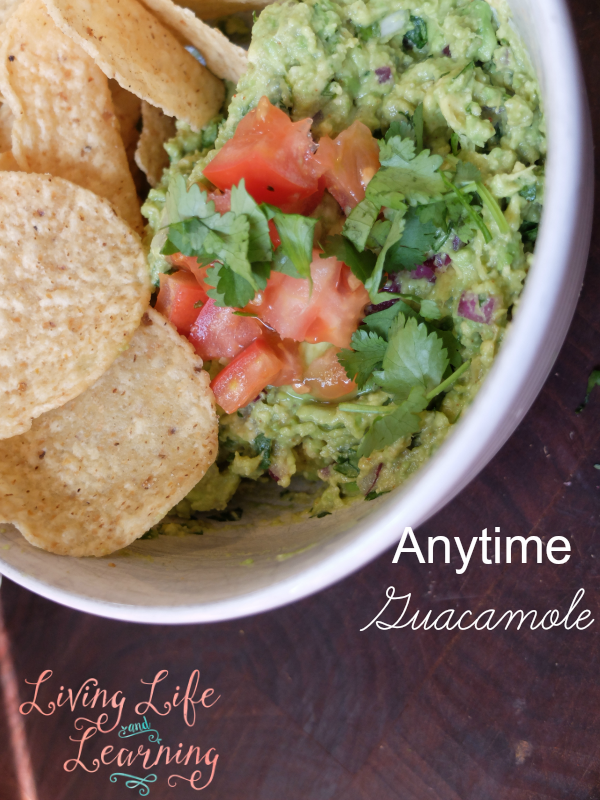 Create this simple yet delicious anytime guacamole recipe for a healthy snack for the whole family, pair it with chips, tortillas or veggies.