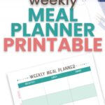 Don't stress about what you'll be eating for dinner with these weekly meal planning printables to get your meals organized for the whole week.