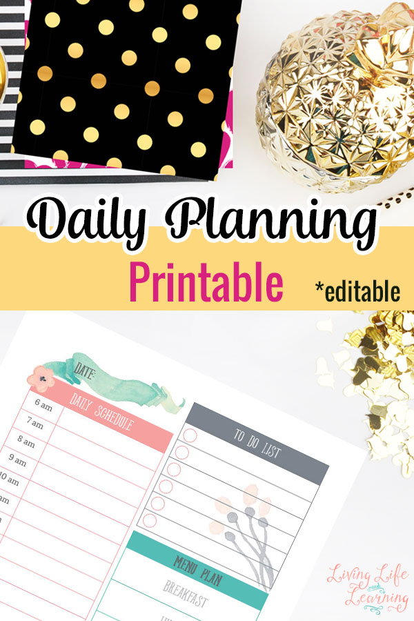 Don't forget another must-do task by writing them in your Daily Planning Printable and they're editable, how cool is that?