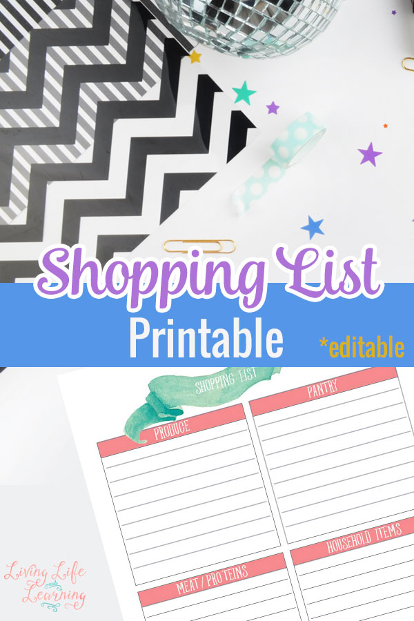 Don't forget anything while you're grocery shopping, print out this pretty shopping list printable so that you don't forget any groceries at the store.