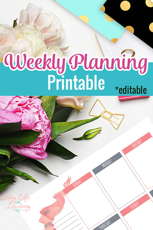 Break down your week into manageable tasks to complete your entire to do lists with these pretty weekly planning printables