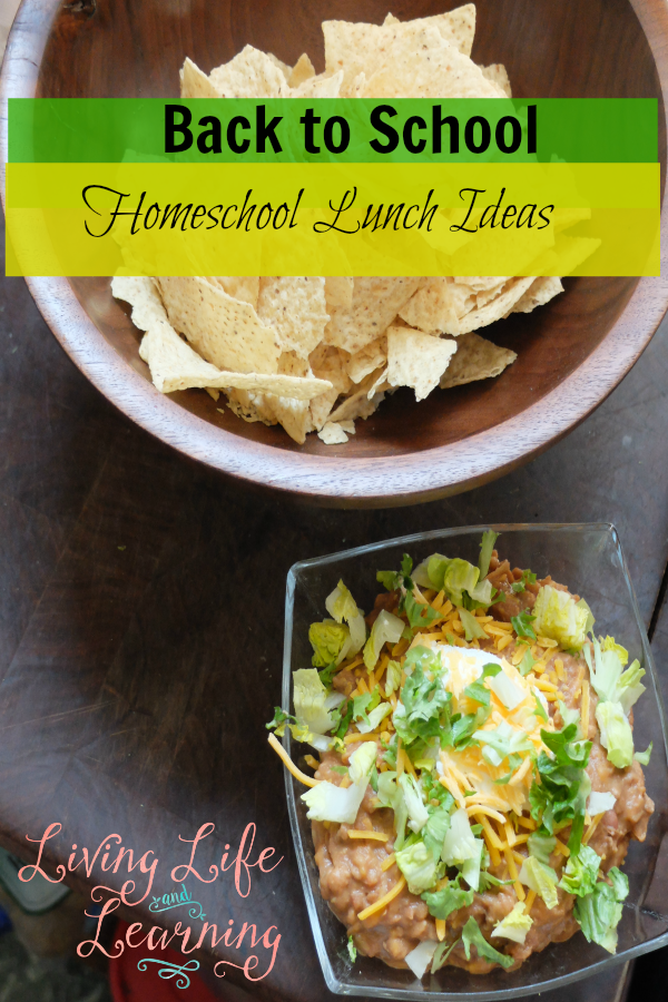 Back to School Homeschool Lunch Ideas