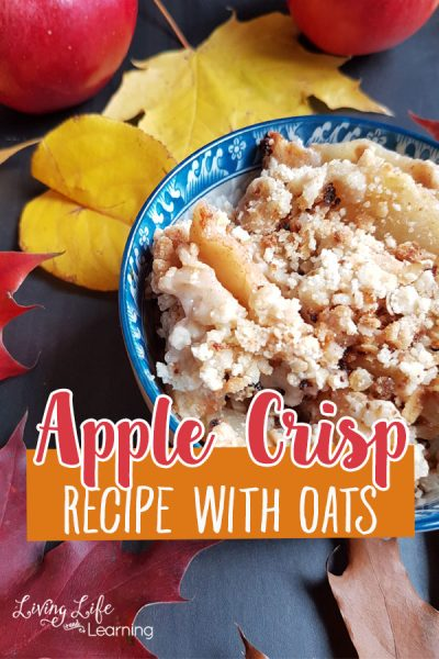 Apple crisp recipe with oats - An awesome fall recipe that uses those left over or extra apples you have in the fridge, best served with ice cream.