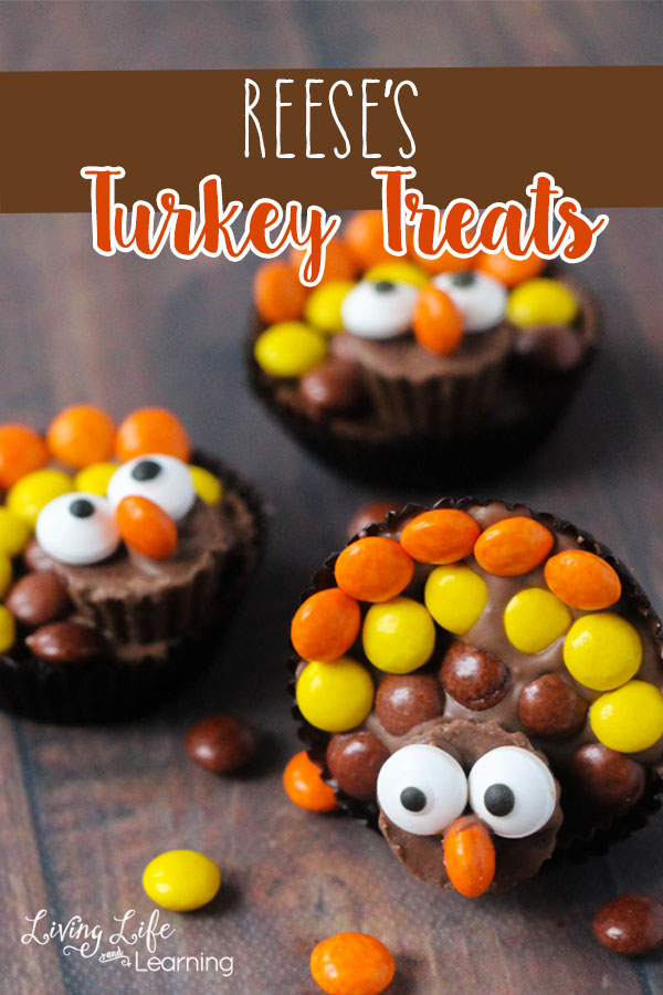 Here is a tutorial on how to make these super cute Reese's turkey treats. They are perfect to make on Thanksgiving Day while your little ones wait for the food to be ready.