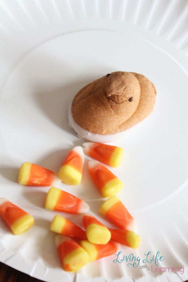 Simple Thanksgiving Snack for Kids - What is better than a craft- a craft that involves food, and even better than that, a craft that includes candy?!