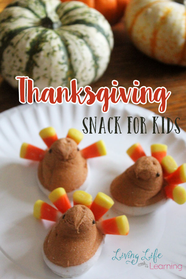 Thanksgiving Snack for Kids - What is better than a craft- a craft that involves food, and even better than that, a craft that includes candy?!