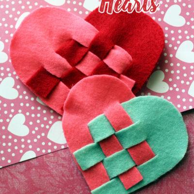 Felt Basket Weave Heart Craft