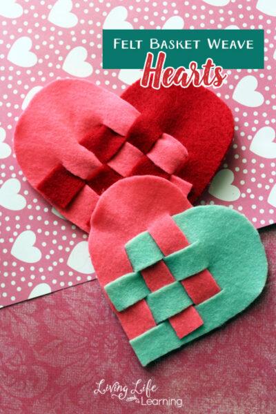 Felt Basket Weave Hearts Craft