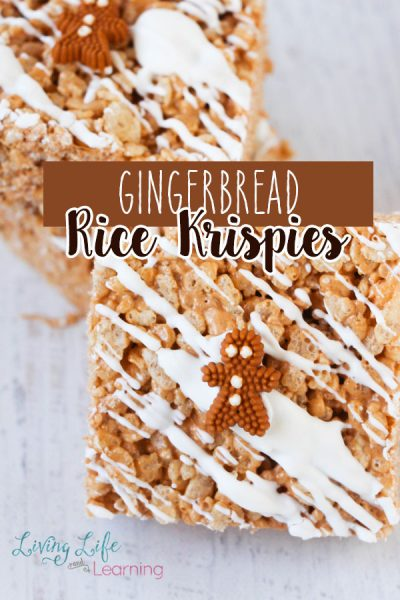 In this post, we will share with you the perfect snack or treat for this chilly holiday season. You will love these Gingerbread Rice Krispies treats!