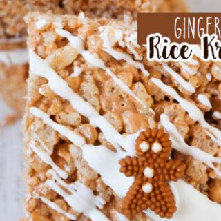 Gingerbread Rice Krispies Treat