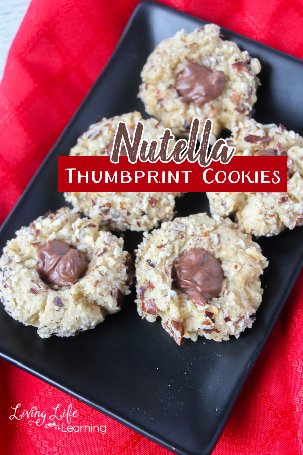 Delicious Nutella thumbprint cookie recipe your whole family will love anytime of the year or during the holidays.
