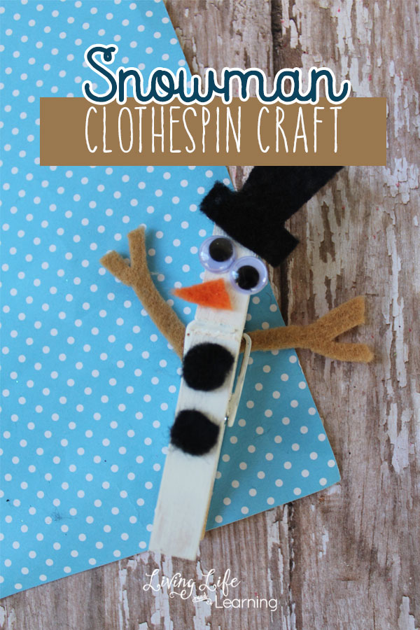Snowman Clothespin Craft