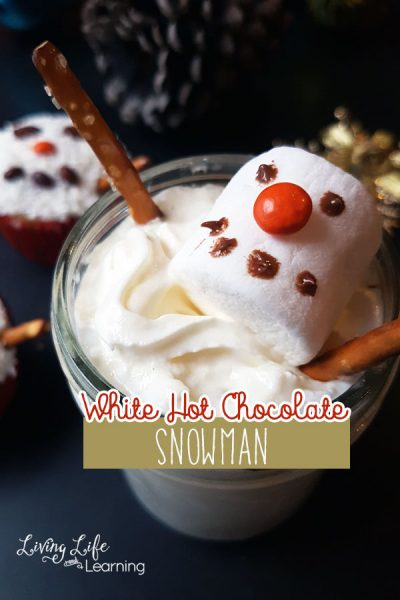 See how I decorate this yummy white hot chocolate. We made a few snowman white hot chocolate decorations and it's the perfect treat for the whole family.