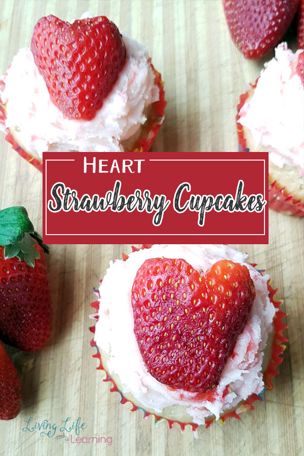 Heart Strawberry Cupcakes