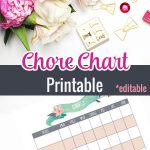 Get your kids organized and motivated with their housework with this chore chart printable, keep track of the kids chores with this printable