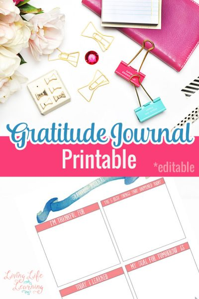 It's so easy to forget to count our blessings, don't be ungrateful, write out what you are thankful for in this Gratitude Journal printable.