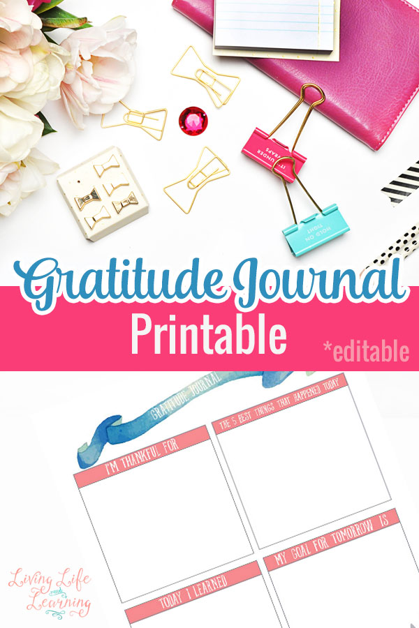 It's so easy to forget to count our blessings, don't be ungrateful, write out what you are thankful for in this Gratitude Journal printable