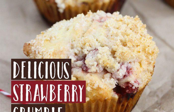 Strawberry Crumble Muffins Recipe