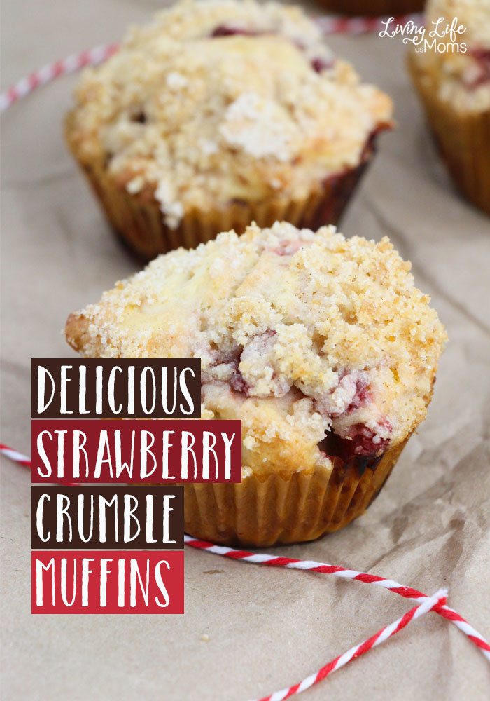 An easy mouth watering dessert to serve your family - try this strawberry crumble muffins recipe that will be a huge hit with your family