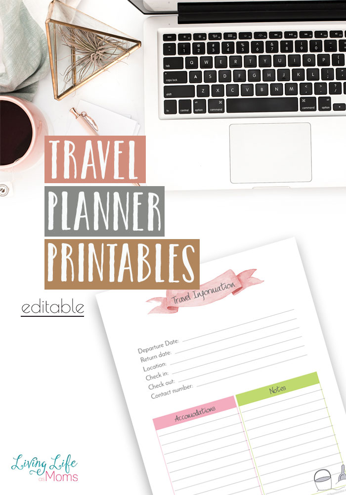 Planning your next vacation or road trip? This free travel planner printable will get you started on the right foot so you can relax on your next vacation. These printables are editable and will make planning your next vacation a breeze.