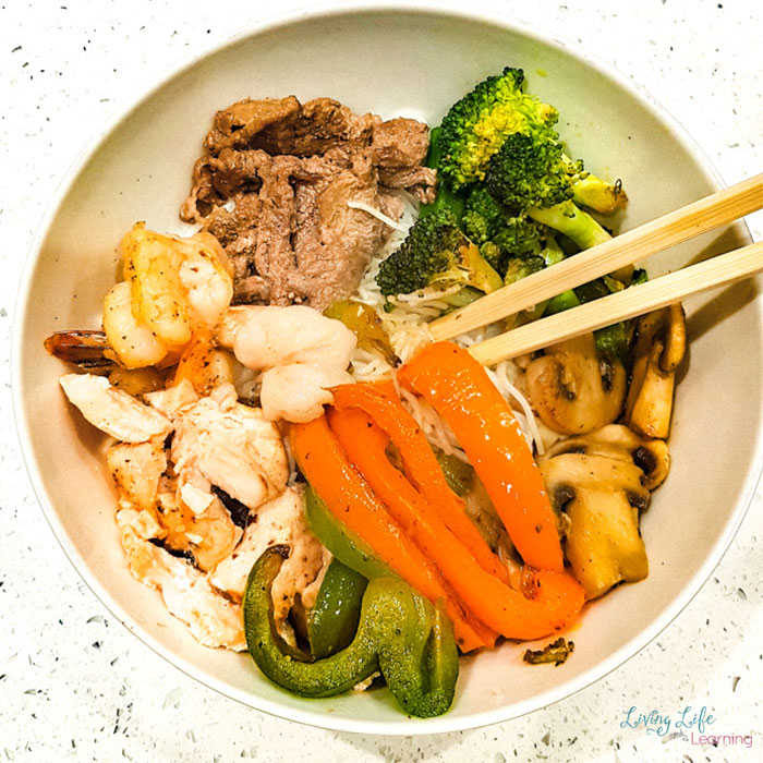Vietnamese butter beef with rice vermicelli noodles and fish sauce