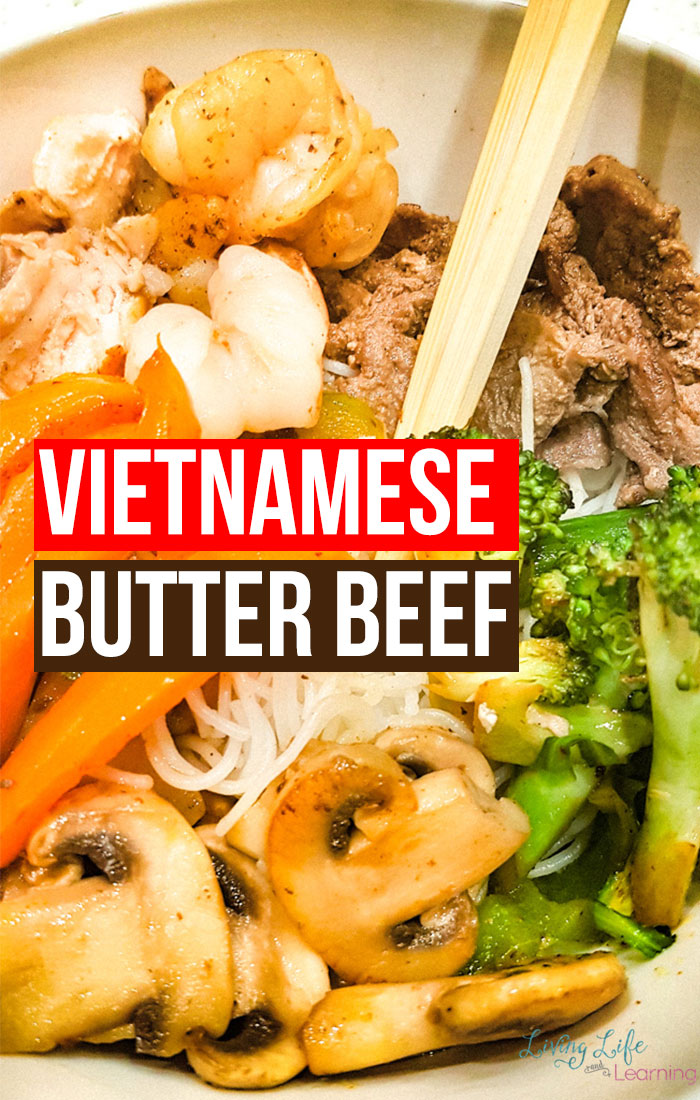 Enjoy this rich and delicious Vietnamese butter beef recipe that is well worth the effort to prepping this meal. You can enjoy butter beef with vermicelli noodles or wrap everything in a rice paper roll.