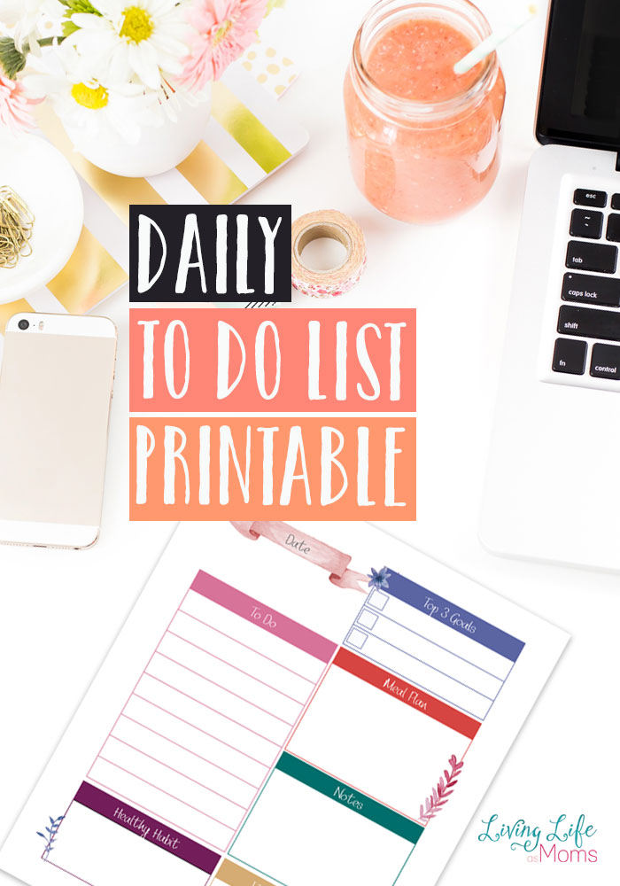 This daily to do list printable is the perfect way to ensure that you don't miss that dentist appointment or where your kids should be going after school. And it's editable which is a plus!
