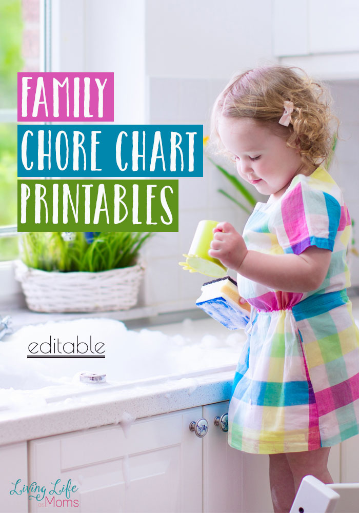 This printable family chore chart is the perfect way to get your whole family organized and on board with your cleaning schedule so that you don't have to do it alone.