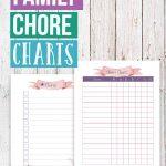 Family Chore Charts Printables
