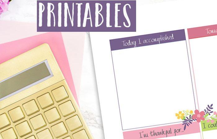 FloralGratitude Journal Printables