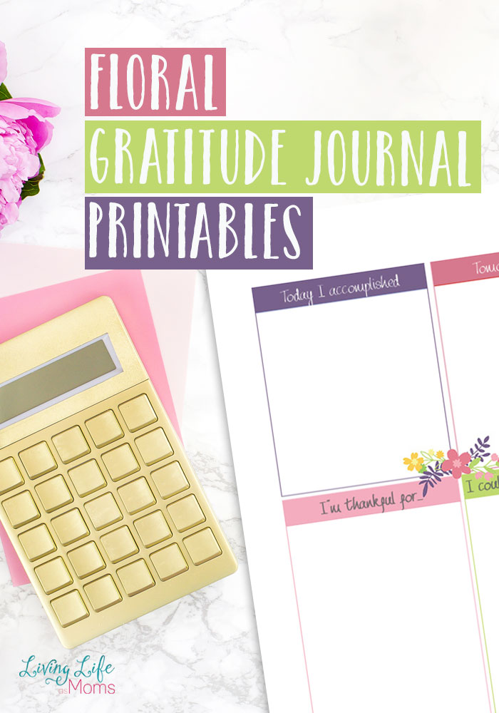 Floral Gratitude Journal Printables