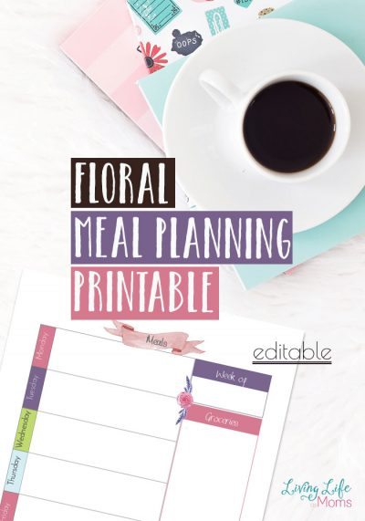 Use these floral meal planning printables this week. Do you have to run out to the store multiple times during the week? Make a plan and stick to it.