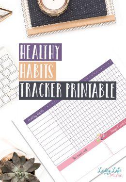 Healthy Habits Tracker Printable