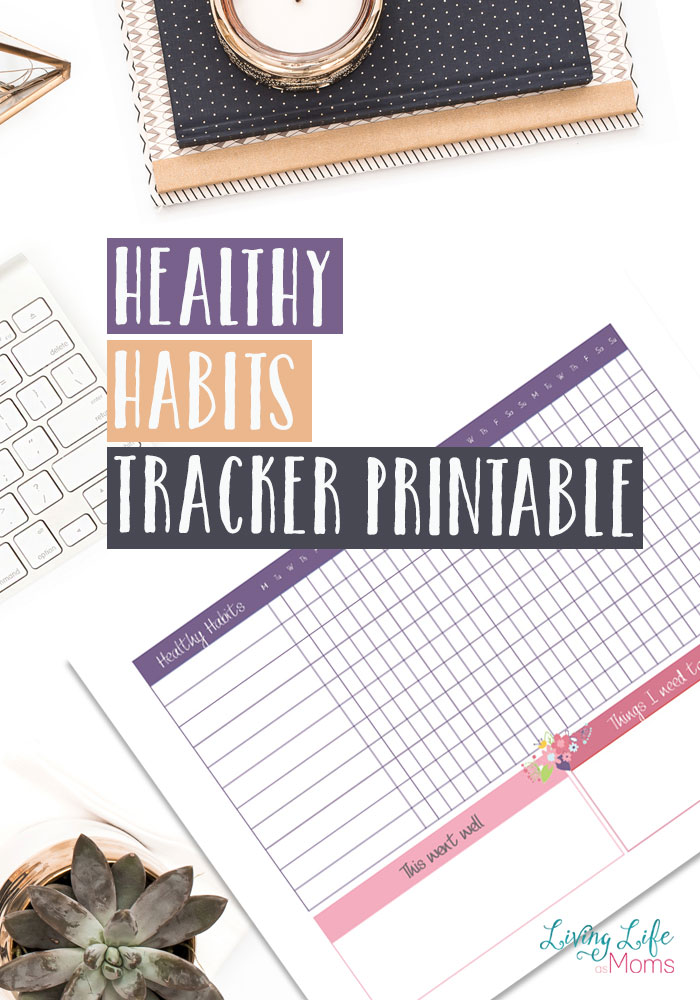 Healthy Habits Tracker Printable
