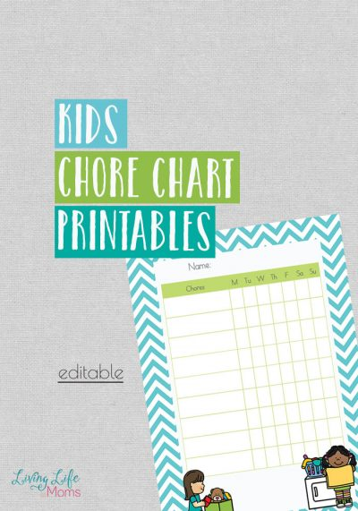 Printable kids chore chart - a tool to help combat those chore battles that you have to endure every day. Set them up to succeed with their own chore chart.