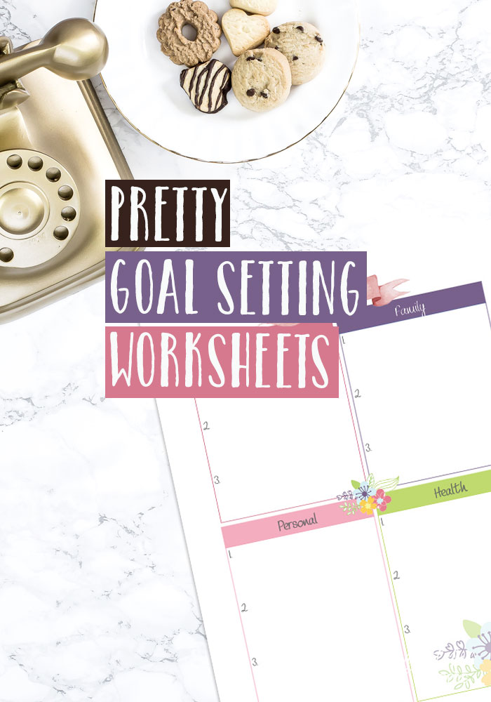 Make great things happen for you with these free Pretty Printable Goal Setting Worksheets. Reach those big personal, health, work or family goals and make big changes for yourself.