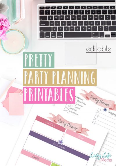 These pretty party planning printables are perfect for any special celebration, plan a birthday, or anniversary with this party planning checklist.