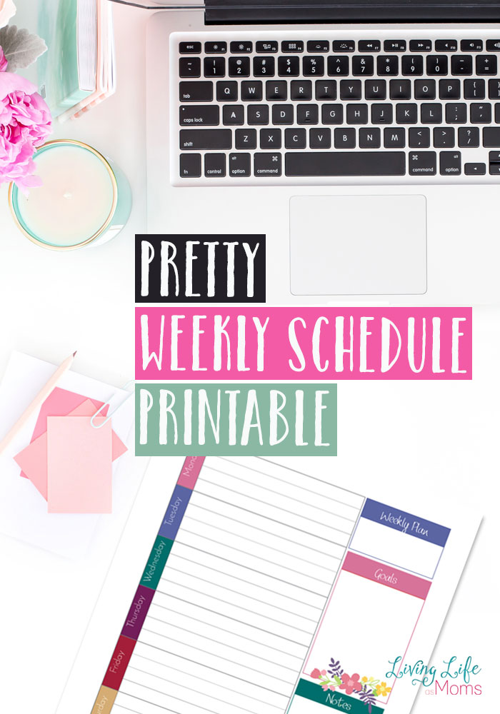 I love this editable schedule. This pretty weekly schedule printable is perfect for those moms who keep missing those important things or who keep forgetting that one things.