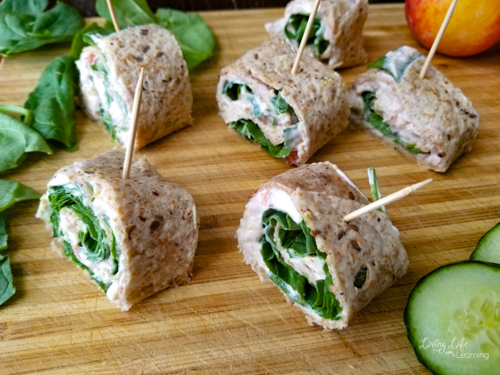 Easy Chicken and Cheese Tortilla Rolls