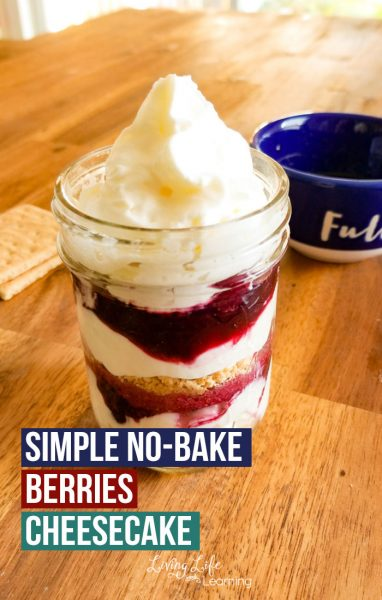 No time but still want a delicious mouth watering dessert? Try this Simple No-bake Berry Cheesecake recipe your whole family will love.