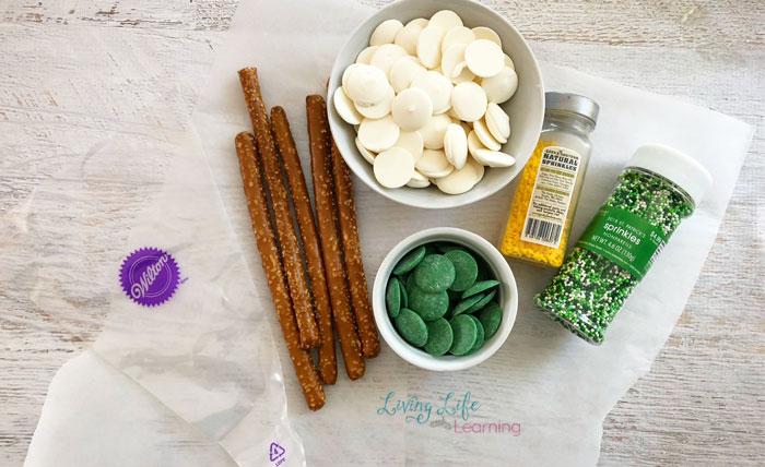 St. Patrick's day pretzel rods ingredients