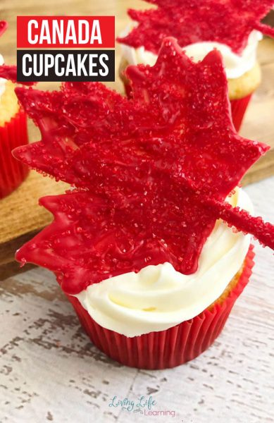 %%title%% A delicious cupcake recipe that is perfect for Canada Day. This Canada Cupcake recipe is one that you'll want to make year after year!