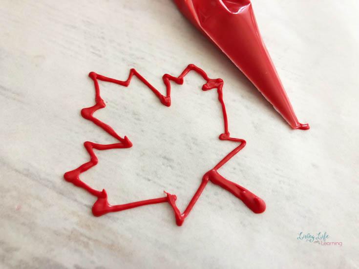 DIY Canada cupcake decorations