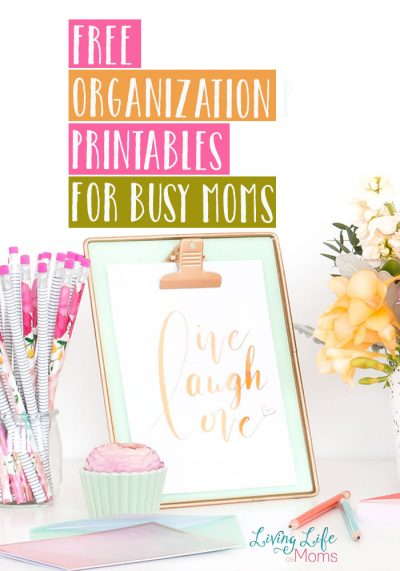 Missing important tasks and forgetting appointments? Get yourself together with these free organization printables for busy moms. Don't let things slip by you anymore