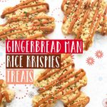 These Gingerbread Man Rice Krispy Treats are the perfect way to kick off the holiday season! Simple, delicious and perfect for helping hands! #gingerbread #baking