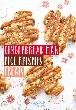 Gingerbread Man Rice Krispie Bars