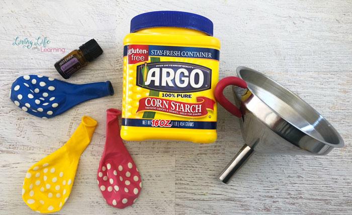 Supplies for aromatherapy stress balls