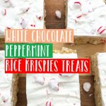 If you're looking for the perfect holiday flavor combination, these White Chocolate Peppermint Rice Krispie Bars are just what your taste buds need!#homemade #DIY #chocolate #peppermint