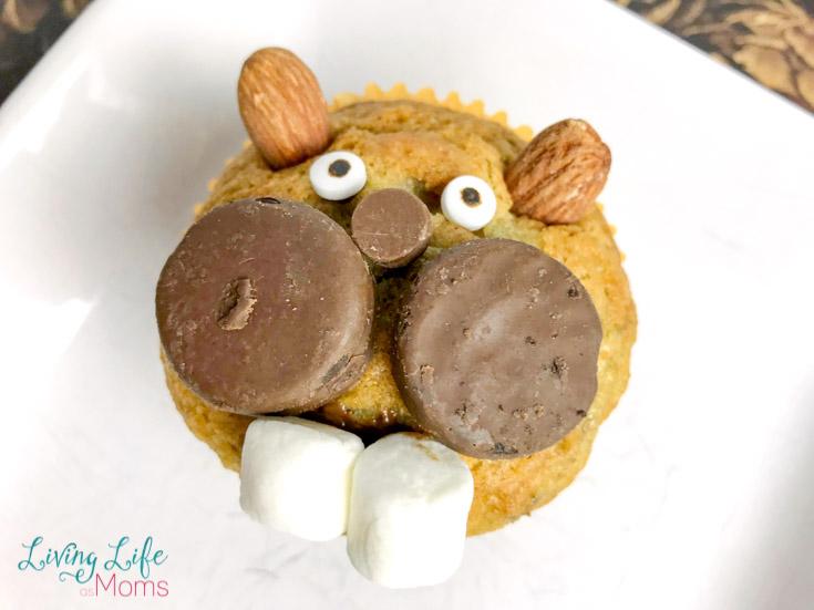 groundhog banana muffins